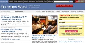 """Screenshot der Startseite """"Education Week"""""""