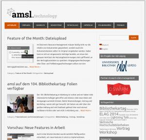 Informationen und Neuigkeiten rund um amsl auf dem Blog amsl.technology
