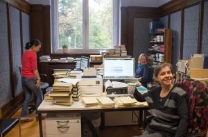 v.l.n.r.: Masako Fujita-Dahlberg, Ulrike Heinze und Katharina Malkawi in ihrem Büro