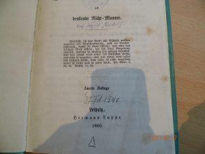 Restituiertes Buch mit der Zugangsnummer 37 Td 1540
