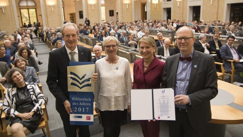Preisverleihung zur Bibliothek des Jahres 2017